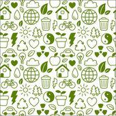 Eco pattern — Stock Vector