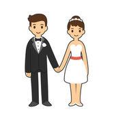 Wedding couple — Vector de stock