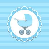 Blue Baby stroller — Stock Vector