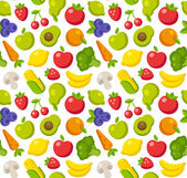 Fruits and vegetables pattern — Stock Vector