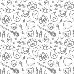 Halloween doodle seamless pattern — Stock Vector #83498112
