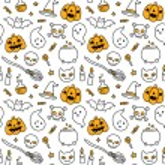 Halloween doodle seamless pattern — Stock Vector #83498416