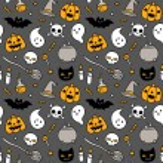 Halloween doodle seamless pattern — Stock Vector #83609556