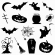 A collection of 15 icons Halloween vector illustration — Stock Vector #77957198
