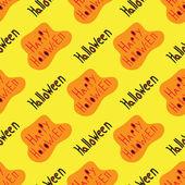 Halloween seamless vector pattern background wallpaper — Stock Vector