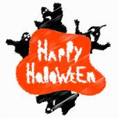 Halloween perfume blurry objects vector illustration — Stock Vector