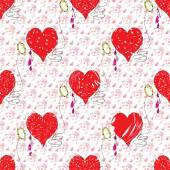 Heart Valentines Day grunge effect — Stock Vector