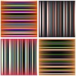 Bright colored lines backlit collection of vector illustration — Stock Vector #81985722