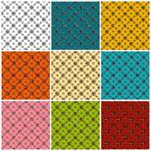 Beautiful colored seamless pattern collection of vector illustration — Stock Vector