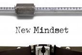 New Mindset Typewriter — Stock Photo