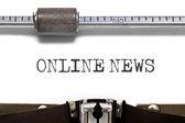 Concetto di macchina da scrivere notizie Online — Foto Stock