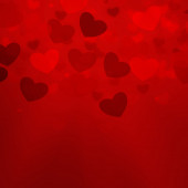 Alla hjärtans dag kort bakgrund lysa rött — Stockfoto