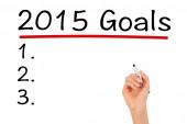 2015 Goals — Stock Photo