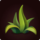 Grass icon game — Stock Vector