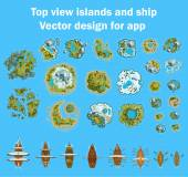 Ships to the islands 1 — Stock Vector