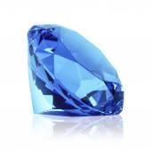 Isolerade blå diamant (sapphire) — Stockfoto