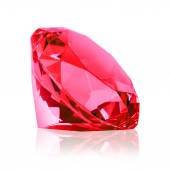 Diamant rouge isolé (ruby) — Photo
