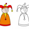 Figure of clown for coloring book. — Stock Vector #75150921