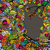 Zentangle colorful abstract backgraound — Stock Vector