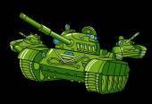 Cartoon military tanks — Stock Vector