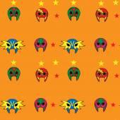 Modello di maschera lottatore messicano — Vettoriale Stock
