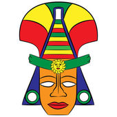 Mask Aztec ancestors of Mexico on a white background — Stock Vector