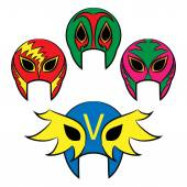 Mexican wrestling masks on a white background — Stock Vector