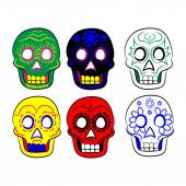 Mexican masks for Cinco e Mayo on a white background — Stock Vector