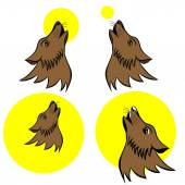Howling wolf symbol — Stock Vector