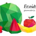 Still life, fruit, Geometric style. Vector — Stock Vector #75419325