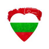 Heart in national colours of Bulgaria. Vector — Vetor de Stock
