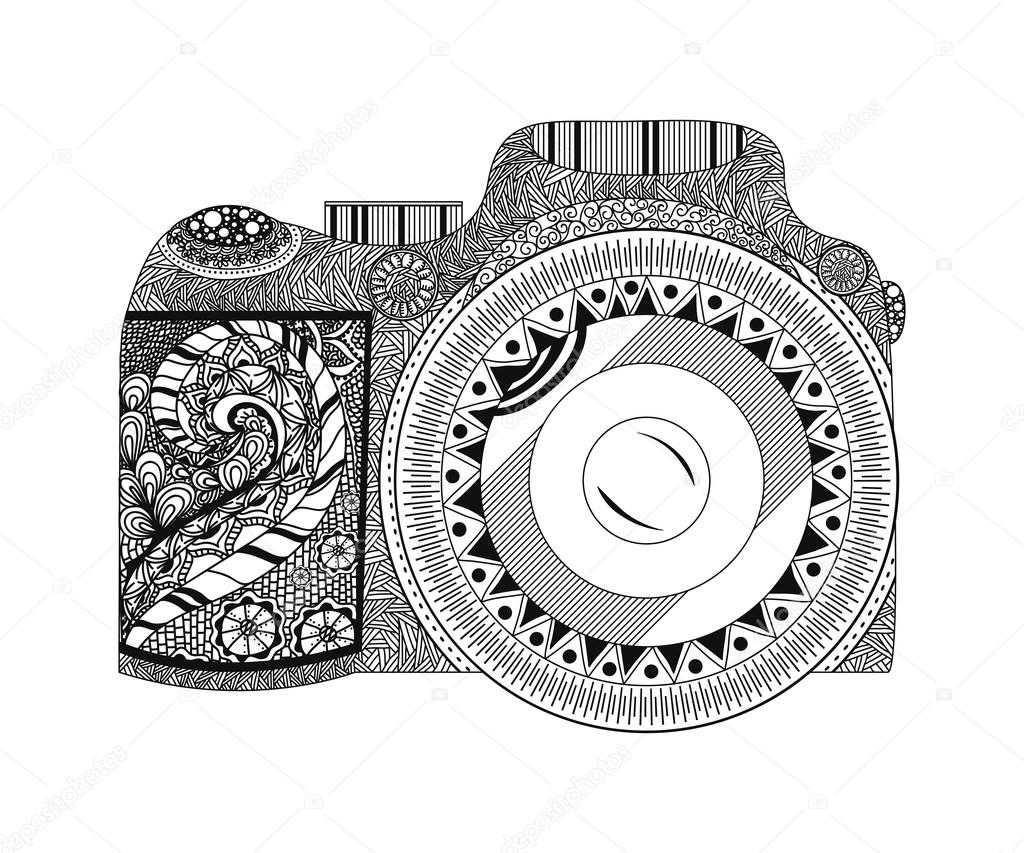 coloring pages to print camera - photo#36