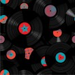 Постер, плакат: Vinyl records pattern