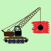 Monochrome icon set with construction equipment — Stock Vector