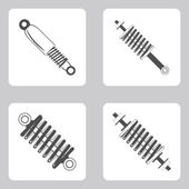 Monochrome icon set with Springs — Stock Vector
