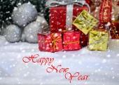 Mutlu Noeller ve mutlu yeni yıl — Stok fotoğraf