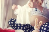 Pregnant young woman — Stock Photo