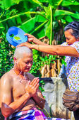 A series of initiation rites that have changed to the new man at the temple Thailand — Stock Photo