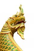 Dragon tail Statues with white background. — Stock Photo
