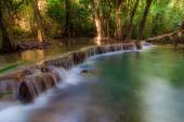 Huay Mae Kamin Waterfall National Park, Kanchanaburi — Stock Photo