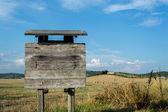 Sinal de madeira — Fotografia Stock
