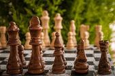 Satranç oyunu — Stok fotoğraf