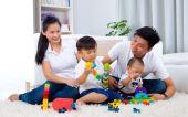 Familia asiática — Foto de Stock