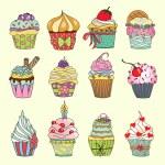 Cupcake set — Stock Vector #75154697