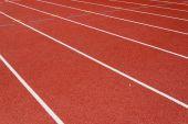 Red race for running — Stock fotografie