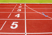 Red race for running — Stockfoto