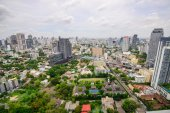 Building High Angle in thailand — Stock Photo