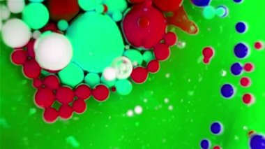 Ink Bubbles In Water — Stock Video