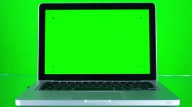 L'utilisation d'ordinateur portable avec écran vert — Vidéo