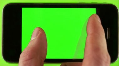 Using Smartphone With Green Screen — Stock Video